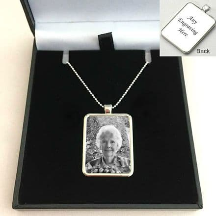 Photo Necklace on Sterling Silver Chain