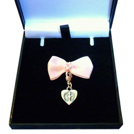 Silver Footprints Charm - Gift Boxed