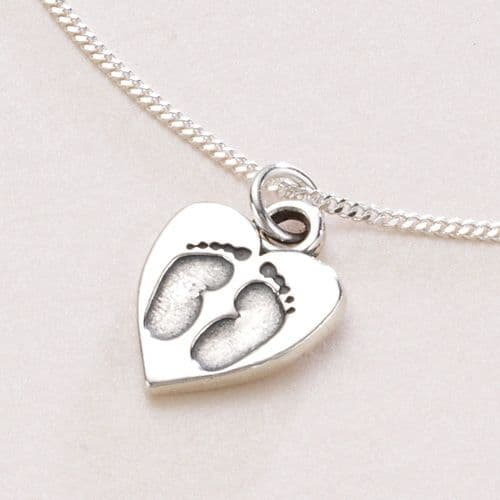 Footprints on Your Heart Necklace | Someone Remembered