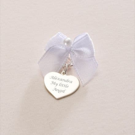 Silver Heart Charm (ch1) - Gift Boxed