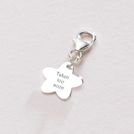 Taken Too Soon, Memorial Charm, Sterling Silver