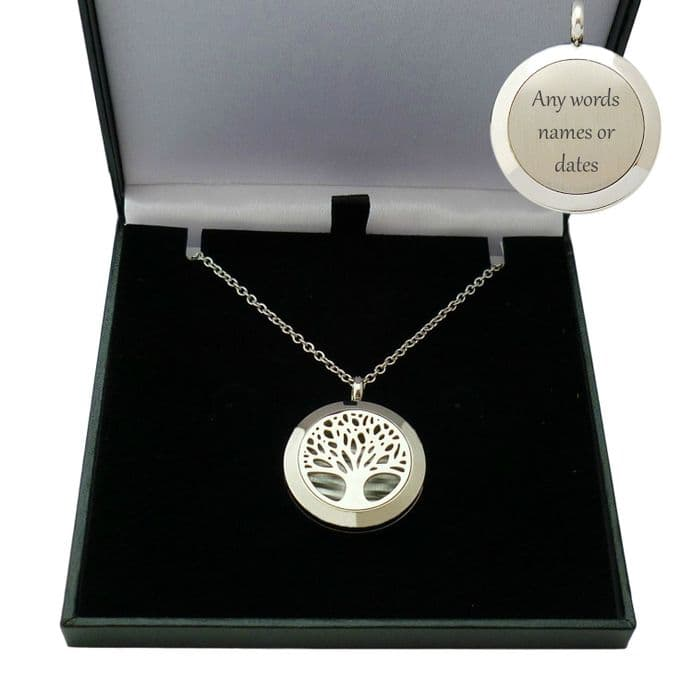 Tree of Life Locket with Engraving | Someone Remembered