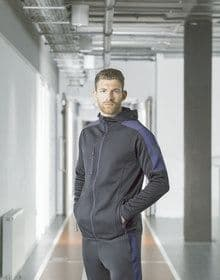 ADULTS ACTIVE SOFTSHELL JACKET DARK GREY MARL/BLACK  XL'
