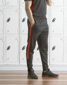 ADULTS KNITTED TRACKSUIT PANTS BLACK/RED  XS'