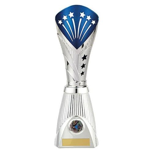 All Stars Deluxe Rapid Trophy Silver & Blue 315mm