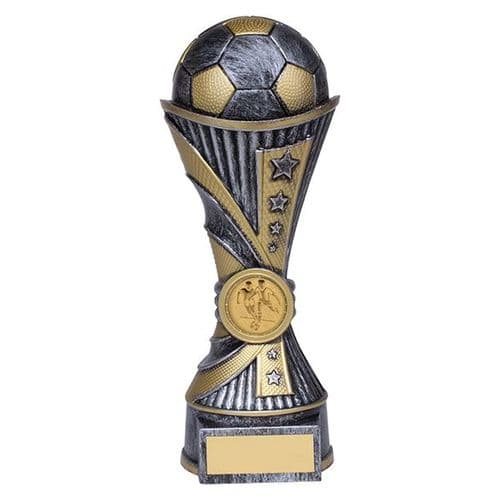 All Stars Football Heavyweight Award Antique Silver & Gold 200mm