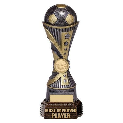 All Stars Football Most Improved Player Antique Silver & Gold 260mm