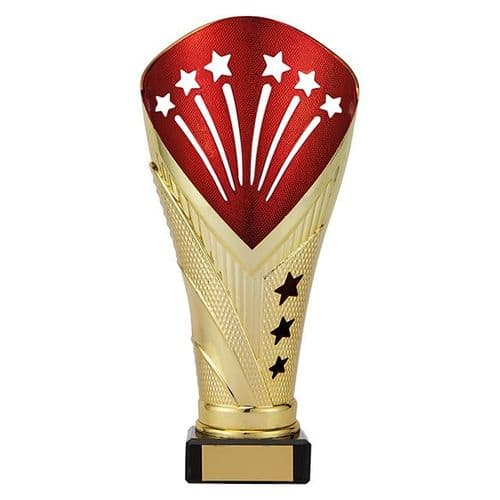 All Stars Large Rapid Trophy Gold & Red 205mm