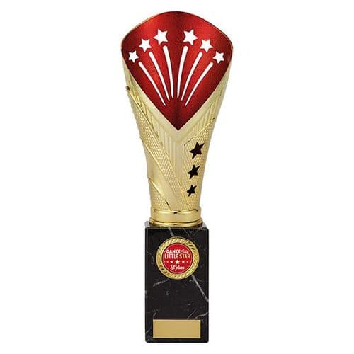 All Stars Large Rapid Trophy Gold & Red 285mm