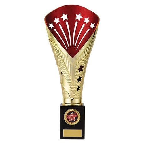 All Stars Super Rapid Trophy Gold & Red 305mm