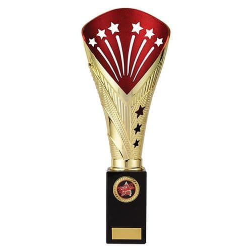 All Stars Super Rapid Trophy Gold & Red 330mm