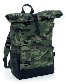 BLOCK ROLL-TOP BACKPACK BRIGHT ROYAL/BLACK  ONE'