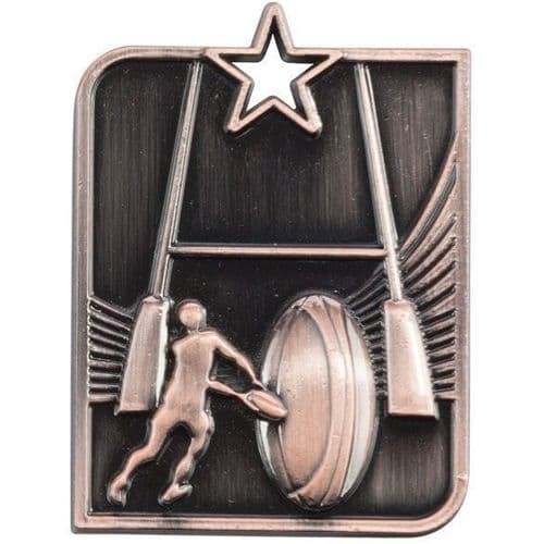 Centurion Star Series Rugby Medal Bronze 53x40mm