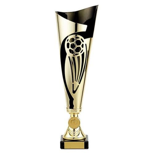 Champions Football Cup Gold & Black 325mm