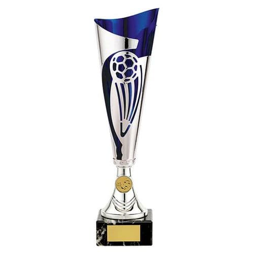 Champions Football Cup Silver & Blue 360mm