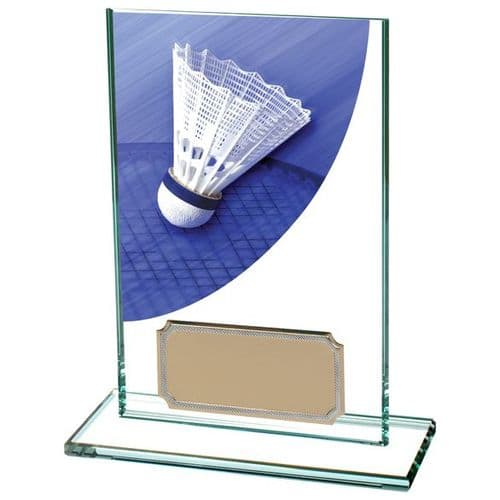 Colour Curve Badminton Jade Glass Award 125mm
