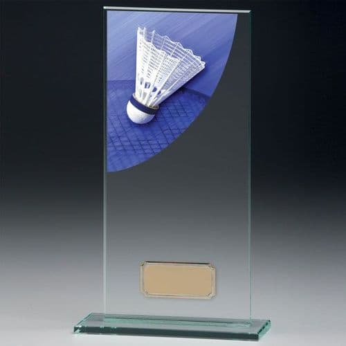Colour Curve Badminton Jade Glass Award 180mm