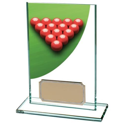 Colour Curve Snooker Jade Glass Award 125mm