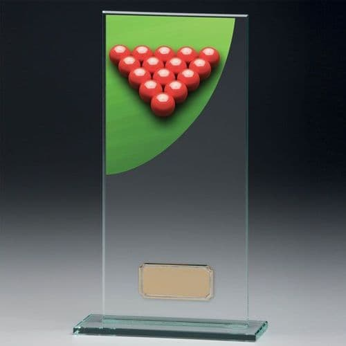 Colour Curve Snooker Jade Glass Award 140mm