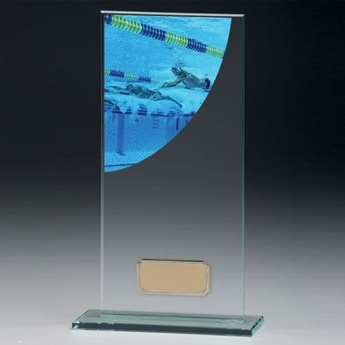 Colour Curve Swimming Jade Glass Award 160mm