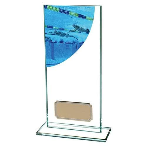 Colour Curve Swimming Jade Glass Award 180mm