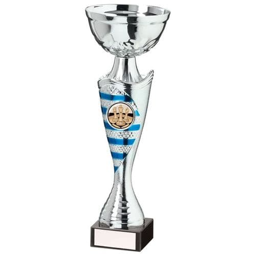 Commander Cup Silver & Blue 225mm