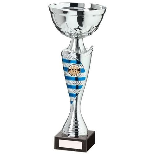 Commander Cup Silver & Blue 290mm