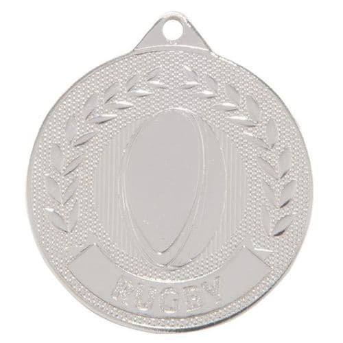 Discovery Rugby Medal Silver 50mm