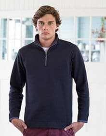 EMERIZED 1/4 ZIP SWEAT         NAVY  XXL'