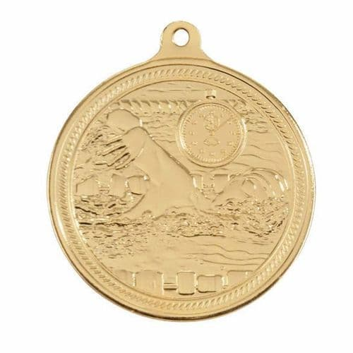 Endurance Swimming Medal Gold 50mm