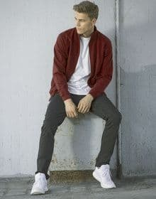 FRESHER FULL ZIP SWEAT BURGUNDY  L'