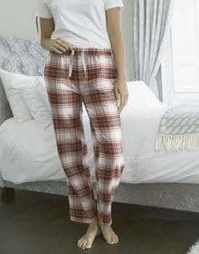GALS FLANNEL PANT RED/PINK  S'