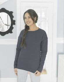 GALS OVERSIZED SWEAT HEATHER  S'