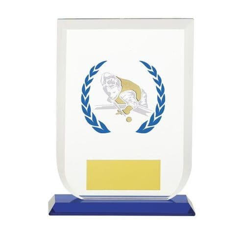 Gladiator Pool Snooker Glass Award 160mm