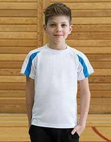 KIDS CONTRAST COOL T ARCTIC WHITE/FIRE RED  XS'