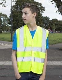 KIDS HIGH VISIBILITY VEST      FLUORESCE YELLOW  S'