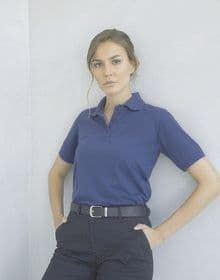 LADIES 65/35 CLASSIC POLO CHARCOAL  XS'