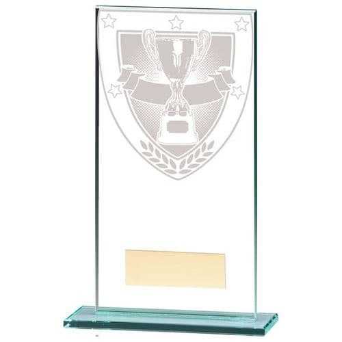Millennium Achievement Jade Glass Award 160mm