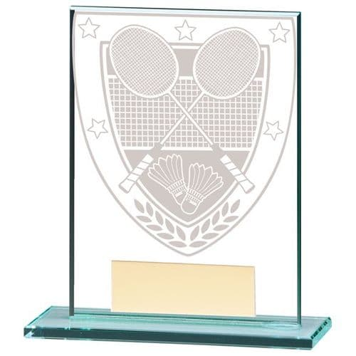 Millennium Badminton Jade Glass Award 110mm