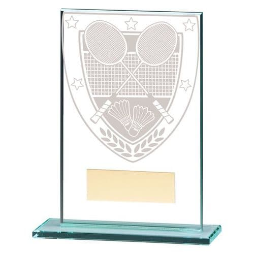 Millennium Badminton Jade Glass Award 125mm