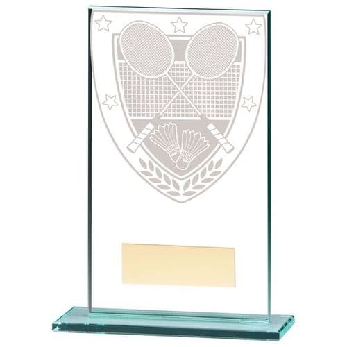 Millennium Badminton Jade Glass Award 140mm