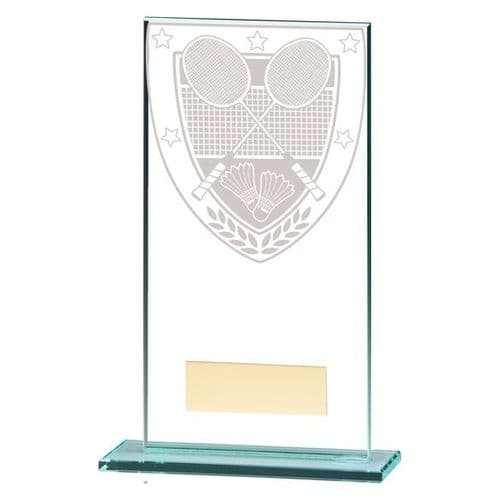Millennium Badminton Jade Glass Award 160mm