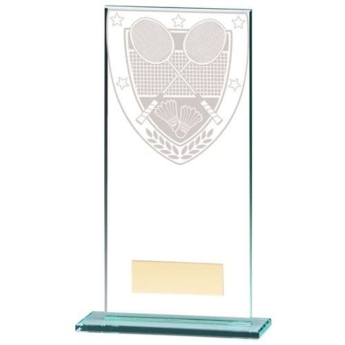 Millennium Badminton Jade Glass Award 180mm