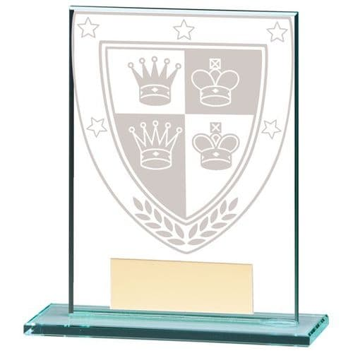 Millennium Chess Jade Glass Award 110mm