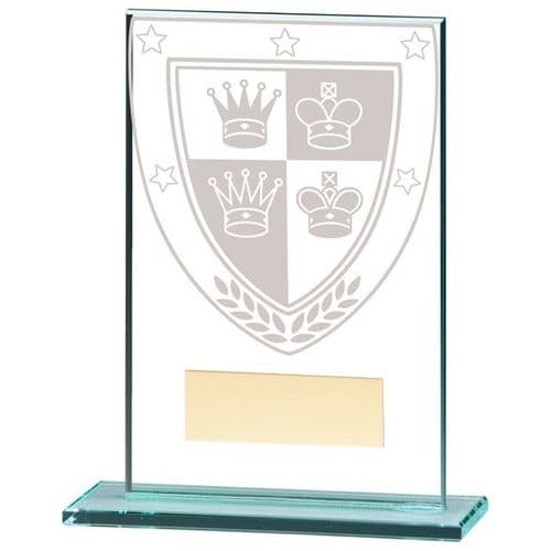 Millennium Chess Jade Glass Award 125mm