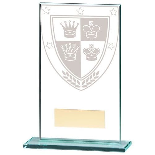 Millennium Chess Jade Glass Award 140mm
