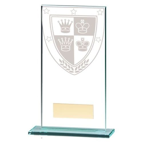 Millennium Chess Jade Glass Award 160mm