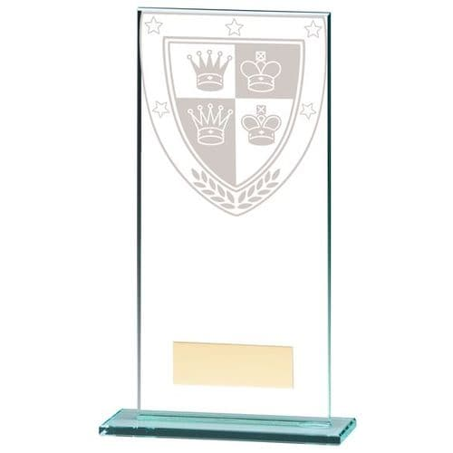 Millennium Chess Jade Glass Award 180mm