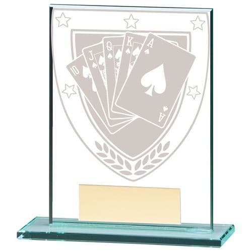 Millennium Poker Jade Glass Award 110mm
