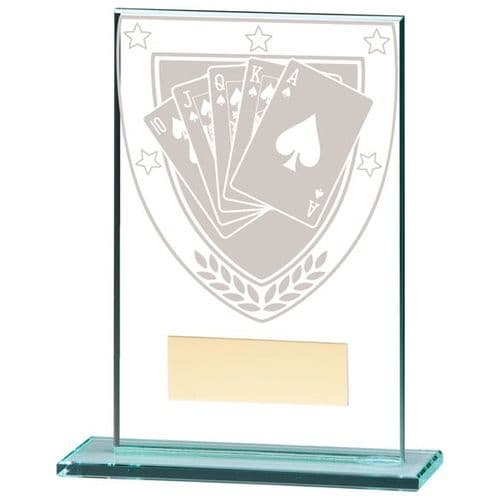 Millennium Poker Jade Glass Award 125mm